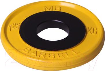 Диск для штанги MB Barbell Олимпийский d51мм 1.25кг
