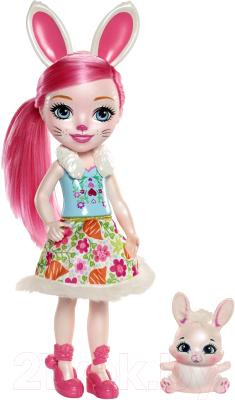 enchantimals кукла felicity fox Кукла с аксессуарами Mattel Enchantimals с питомцем / FRH51/FRH52
