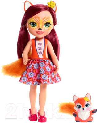 enchantimals кукла felicity fox Кукла с аксессуарами Mattel Enchantimals с питомцем / FRH51/FRH53