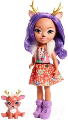 enchantimals кукла felicity fox Кукла с аксессуарами Mattel Enchantimals с питомцем / FRH51/FRH54