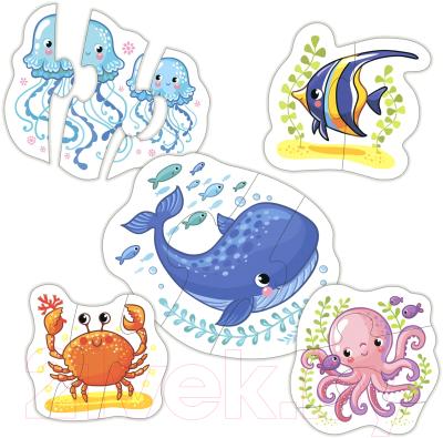 Набор пазлов Дрофа-Медиа Baby Puzzle Морские животные / 3997 набор трафаретов дрофа медиа овощи и фрукты 1364