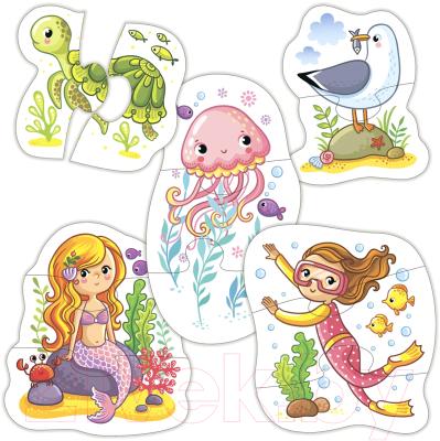 Набор пазлов Дрофа-Медиа Baby Puzzle На море / 3998 набор трафаретов дрофа медиа овощи и фрукты 1364