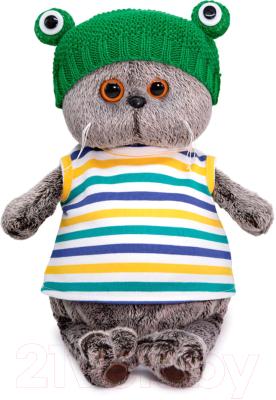Фото - Мягкая игрушка Budi Basa Басик в шапке Лягушка / Ks25-177 игрушка мягкая budi basa басик baby в шапке панда 20 см bb 070