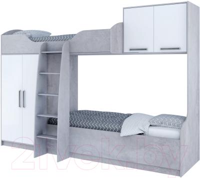Двухъярусная кровать детская SV-мебель Грей Д