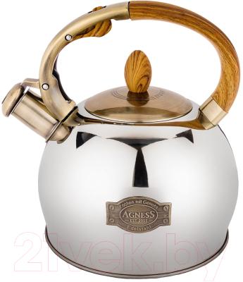 Чайник со свистком Agness 937-831