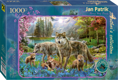 Пазл Step Puzzle Семья волков весной / 79547