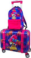 Чемодан на колесах DeLune Lune-002 + рюкзак (фиолетовый) -