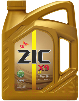 Моторное масло ZIC X9 LS Diesel 5W40 / 162609 (4л)