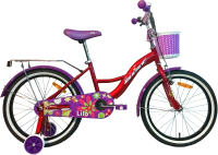 Детский велосипед AIST Lilo 2021 (18, красный) -