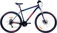 Велосипед AIST Quest Disc 29 2021 (17.5, черный/синий) -