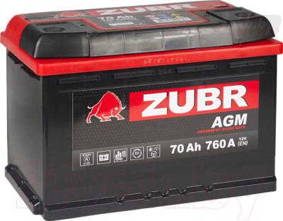 Автомобильный аккумулятор Zubr AGM R+
