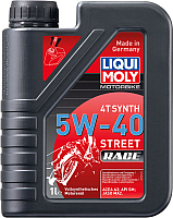 Моторное масло Liqui Moly Motorbike 4T Synth Street Race 5W-40 / 2592 (1л) -