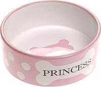 Миска для животных Ferplast Thea Small Bowl / 71098399 (0.3л, розовый) -