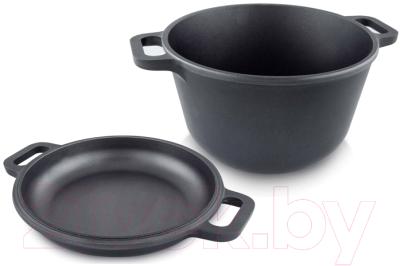 Казан Нева Металл Посуда 6870 казан алюминиевый нева металл посуда 6870 с крышкой сковородой черный 7 л