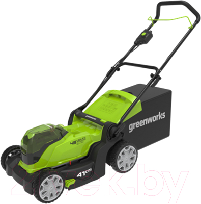 Газонокосилка электрическая Greenworks G24X2LM41 газонокосилка greenworks 2509607 g24lm32k2