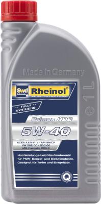 Моторное масло SWD Rheinol Primus HDC 5W40 / 31167.170