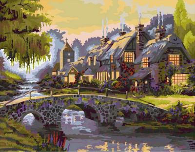 Картина по номерам PaintBoy Старинный мост / G037
