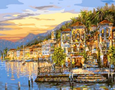 Картина по номерам PaintBoy Город у моря / G295