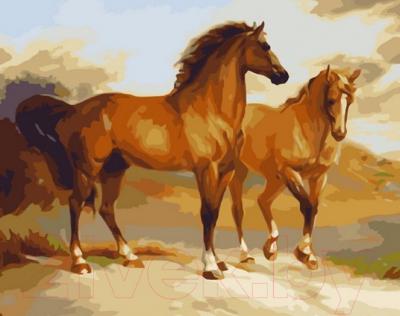 Картина по номерам PaintBoy Грация лошадей / G338