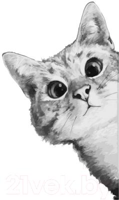 Фото - Картина по номерам PaintBoy Любопытный котик / G517 картина по номерам lori любопытный щенок 28 5х20 см