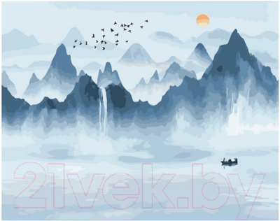 Картина по номерам PaintBoy Озеро и горы / G633