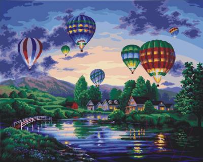 Картина по номерам PaintBoy Воздушные шары / G233