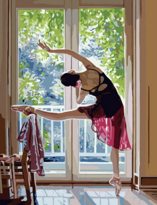 Картина по номерам PaintBoy Балерина у окна / G236