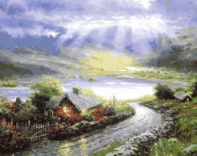 Картина по номерам PaintBoy Дом у озера / G285