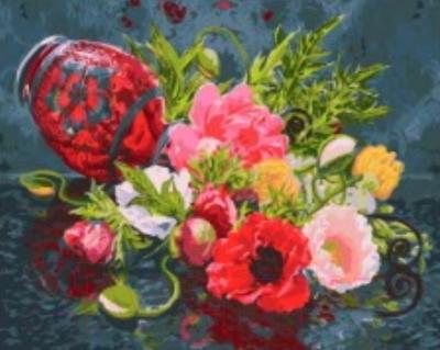Картина по номерам PaintBoy Ваза с цветами / GX3881