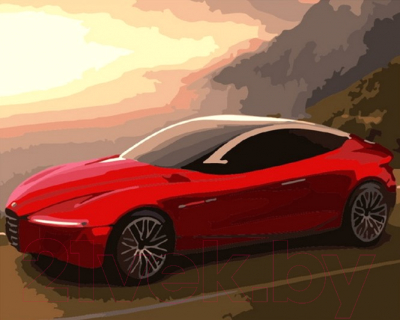 Картина по номерам PaintBoy Красное авто / GX7298