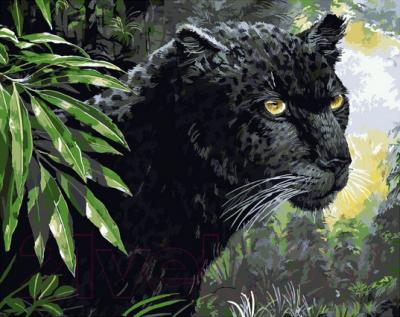 Картина по номерам PaintBoy Пантера в джунглях / GX8525
