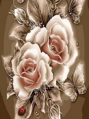 Картина по номерам PaintBoy Карамельная роза / GX29447
