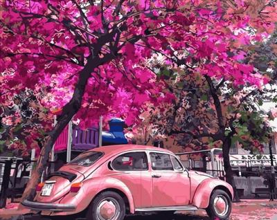 Картина по номерам PaintBoy Цветущая парковка / GX32366
