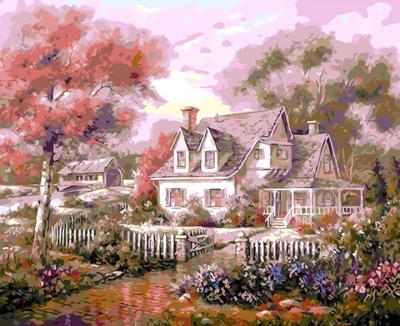 Картина по номерам PaintBoy Деревенский дом / GX32835
