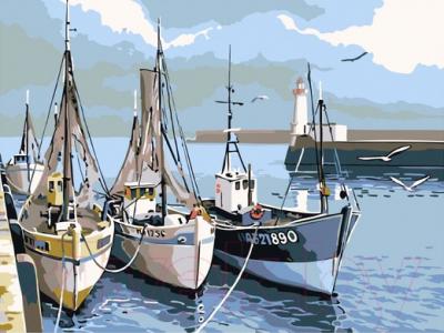 Картина по номерам PaintBoy Лодки у причала / EX6080