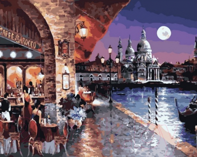 Картина по номерам PaintBoy Кафе в Венеции / GX35720