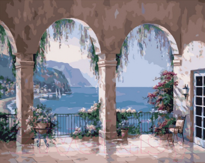 Картина по номерам PaintBoy Средиземноморские арки / GX35809