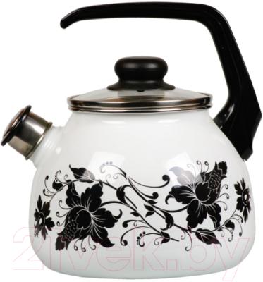 Чайник со свистком СтальЭмаль Tango 1RC12 стальэмаль чайник bon appetit со свистком 1rc12 3 л чёрный с зерном вишнёвый
