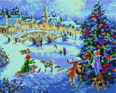 Набор алмазной вышивки PaintBoy Зимний праздник / GF099