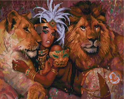 Набор алмазной вышивки PaintBoy Богиня Африки / GF693