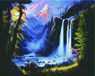 Набор алмазной вышивки PaintBoy Горный водопад / GF970