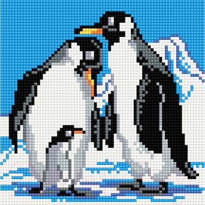 Набор алмазной вышивки PaintBoy Семья пингвинов / BF021