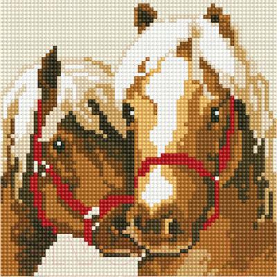 Набор алмазной вышивки PaintBoy Пара лошадей / BF659