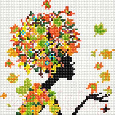 Набор алмазной вышивки PaintBoy Осенняя фея / BF1076