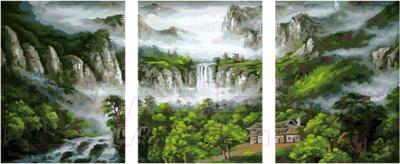 Модульная картина по номерам PaintBoy Горные водопады / PX5091