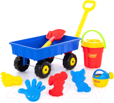 Тележка с игрушками для песочницы Полесье Дачная / 36384