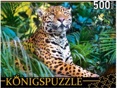 Пазл РЫЖИЙ КОТ Леопард в джунглях / ШТK500-3699