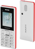Мобильный телефон Maxvi C9i (белый/красный) -