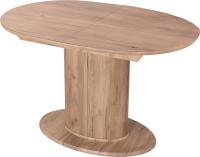 Обеденный стол Домотека Болеро О-1 80x120-160 (дуб канадский/06) -
