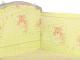 Бортик Alis 360x40 со съемными чехлами (бязь, желтый) -